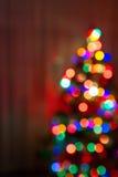 El árbol de navidad enciende el fondo Foto de archivo libre de regalías
