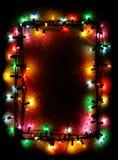 El árbol de navidad enciende el marco fotos de archivo libres de regalías