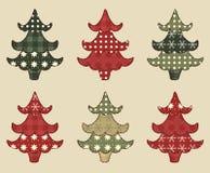 El árbol de navidad fijó 1 Foto de archivo libre de regalías