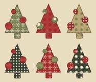 El árbol de navidad fijó 2 Fotos de archivo