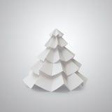 El árbol de navidad hecho a mano cortó del papel de la oficina Imágenes de archivo libres de regalías