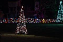 El árbol de navidad hizo luces imágenes de archivo libres de regalías