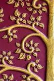 El árbol del diseño del oro del estilo tailandés Foto de archivo libre de regalías