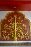 El árbol del diseño del oro del estilo tailandés Imagen de archivo libre de regalías