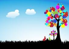 El árbol gráfico. Imagenes de archivo