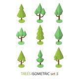 El árbol isométrico del vector fijó 3 stock de ilustración