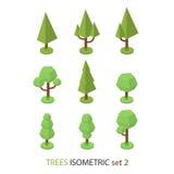 El árbol isométrico del vector fijó 2 Fotografía de archivo