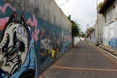 El área alrededor de Kota Lama Old Town de Semarang, Indonesia Fotos de archivo libres de regalías