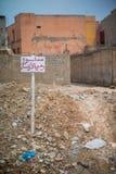 El área de la ciudad degradaded en Agadir, Marruecos, África Foto de archivo