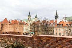 El área de la ciudad vieja en Varsovia, Polonia fotografía de archivo