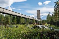 El área de la explotación minera en Suecia se cerró abajo en los años ochenta Imagen de archivo