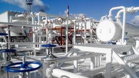 El área del equipo para refrescar el producto derivado del petróleo imagen de archivo