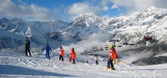 El área del esquí Imagen de archivo libre de regalías