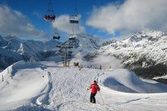 El área del esquí Fotografía de archivo libre de regalías