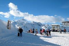 El área del esquí Imagen de archivo