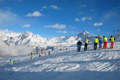 El área del esquí Fotografía de archivo