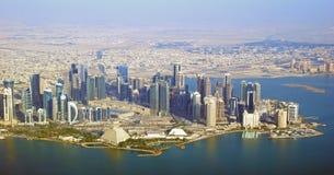 El área diplomática - Qatar imagenes de archivo