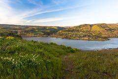 El área escénica nacional de la garganta del río Columbia pasa por alto Fotografía de archivo