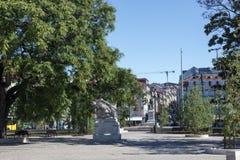 """El †""""Cais de Lisboa hace el jardín de Sodre Fotos de archivo"""