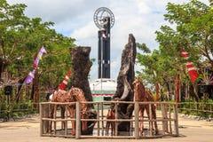 """El †""""Pontianak del norte, Indonesia del monumento del ecuador Fotografía de archivo"""
