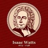 """El †1674 de Isaac Watts """"1748 era ministro, escritor del himno, un teólogo, y lógico cristianos ingleses libre illustration"""