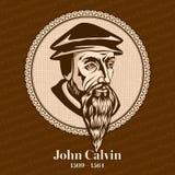 """El †1509 de John Calvin """"1564 era un teólogo, pastor y un reformador franceses en Ginebra durante la reforma protestante stock de ilustración"""