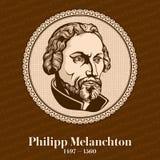 """El †1497 de Philip Melanchthon """"1560 era un reformador Lutheran alemán, colaborador con Martin Luther, el primer teólogo sistem stock de ilustración"""