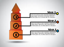 El éxito camina crecimiento acertado del infographics de la oferta del negocio Imagen de archivo libre de regalías
