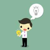 El éxito del hombre de negocios hace idea ilustración del vector