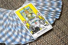 El éxito Detemination del viaje de la carta de tarot del carro Imagen de archivo libre de regalías