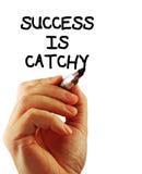 El éxito es pegadizo foto de archivo