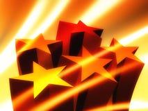 El éxito stars el icono Fotos de archivo
