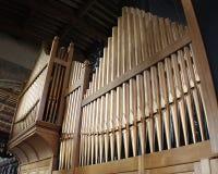 El órgano de la iglesia en la iglesia del siglo XV en lavenham Fotos de archivo libres de regalías
