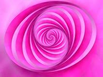 El óvalo remolina color rosado de las rayas Imagenes de archivo
