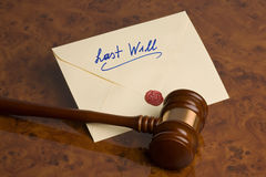 El último - testamento imagen de archivo libre de regalías