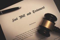 El último y el concepto del testamento fotografía de archivo libre de regalías