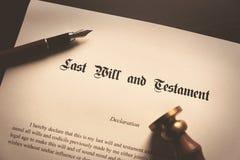 El último y el concepto del testamento imágenes de archivo libres de regalías
