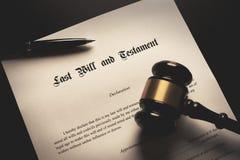 El último y el concepto del testamento imagen de archivo libre de regalías