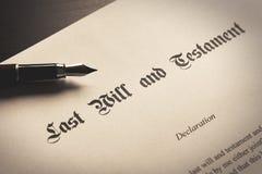 El último y el concepto del testamento foto de archivo