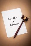 El último y testamento fotografía de archivo libre de regalías