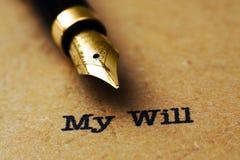 El último y testamento Fotos de archivo