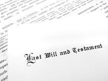 El último y testamento imágenes de archivo libres de regalías
