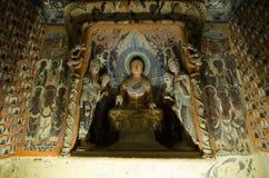 El ˆMogao del ¼ de Frescoesï excava ‰ del ¼ del ï Fotografía de archivo libre de regalías