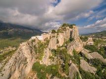 El человеческий замок de Guadalest стоковое фото