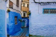 el ‡ del ðŸ del ² del ‡ del 🠦Chefchaouen, Chaouen, ‡ del ðŸ del ² del ‡ de Morocco🠦 EverywhereðŸ'™ azul fotografía de archivo libre de regalías