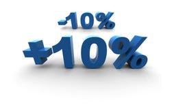 el 10% Fotografía de archivo libre de regalías