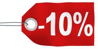 el 10% de etiqueta Imagenes de archivo