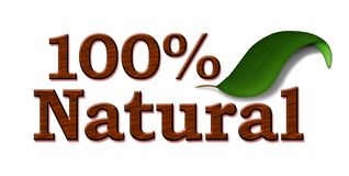 El 100% natural Stock de ilustración