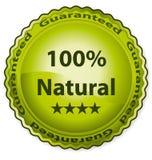 el 100% natural ilustración del vector