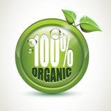El 100% orgánico - icono brillante realista Fotos de archivo libres de regalías